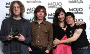 My Bloody Valentine collect an award for their album Loveless in 2008