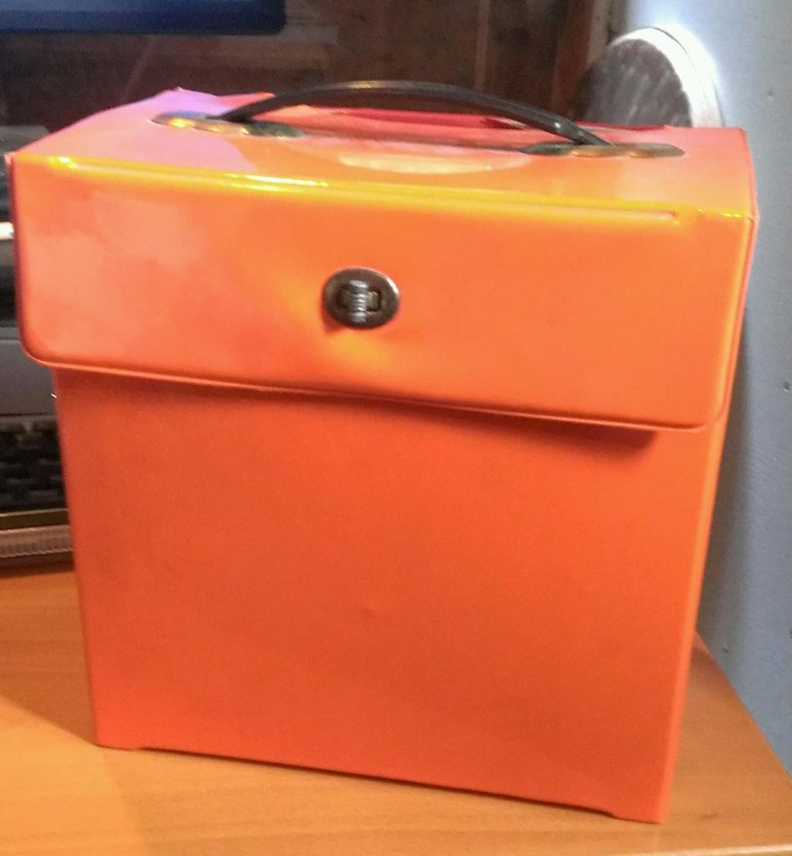 Traveling through time and space...the orange singles box!