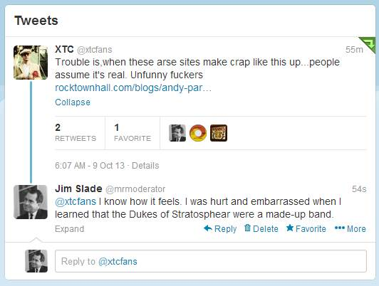 Not the way I ever intended to interact with one of my musical heroes.
