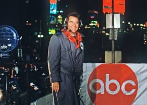 Dick Clark in Times Square, New Year's Eve 1988.
